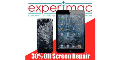 30% off Screen Repairs, Greenville, North Carolina
