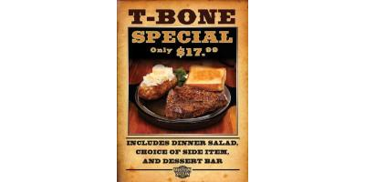 The T-BONE is Back! Just in time for FATHER'S DAY, and better than ever!, Russellville, Arkansas