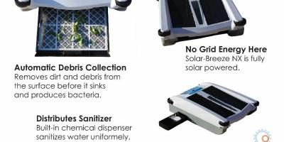Solar-Breeze Robotic Pool Cleaner, Greece, New York
