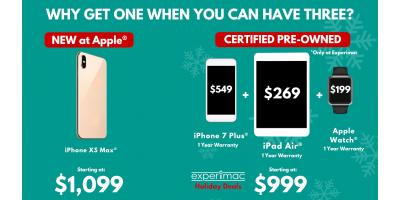Buy Pre-owned iPhones or iPads this Christmas and get more for your money., Amherst, New York