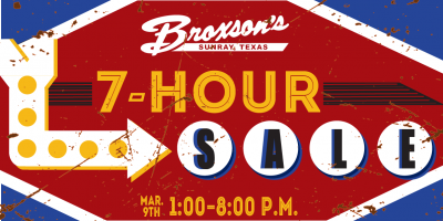 Broxson's 7-Hour Sale!, Sunray, Texas