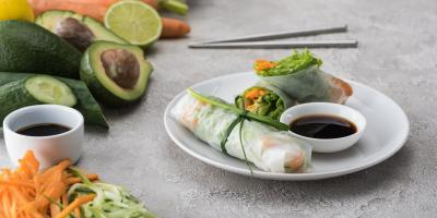 Springs Rolls vs. Summer Rolls, Kahului, Hawaii