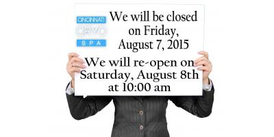 Office closed on Friday, August 7th, Cincinnati, Ohio