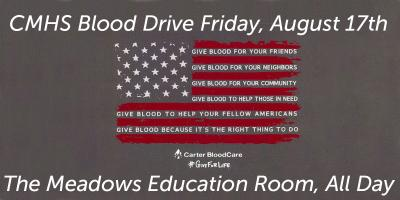 Blood Supply Low- CMHS Hosts Blood Drive Friday, Gatesville, Texas