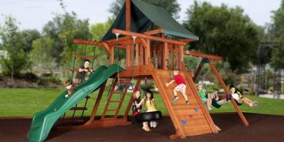Come to the Iowa State Fair to See Backyard Adventures of Iowa's Top-Notch Playsets, Urbandale, Iowa