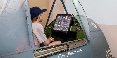 Pacific Aviation Museum Pearl Harbor's Combat Flight Simulators Educate & Excite, Ewa, Hawaii
