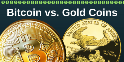 Bitcoin vs. Gold Coins *Top 3 Differences*, Carle Place, New York