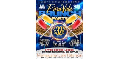 PURA VIDA BRUNCH PARTY- JAN 26th- MAMAJUANA CAFE PATERSON, Paterson, New Jersey