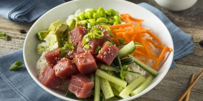 Learning About Hawaiian Poke, Ewa, Hawaii