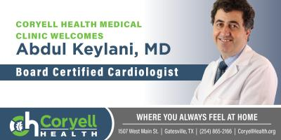 Coryell Health Welcomes Cardiologist, Gatesville, Texas