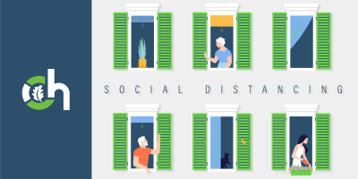 Social Distancing Includes Staying Away From Friends and Neighbors, Gatesville, Texas