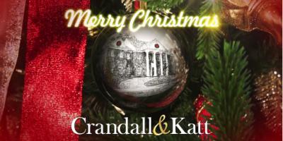 Merry Christmas from Crandall & Katt, Attorneys at Law, Roanoke, Virginia