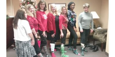 SMC Greensboro Office Celebrates with Holiday Sock Style, High Point, North Carolina