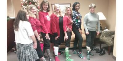 SMC Greensboro Office Celebrates with Holiday Sock Style, Greensboro, North Carolina