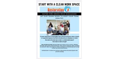 Restoration 1:  Cleaning and Application of Disinfectant Services, Carolina Beach, North Carolina