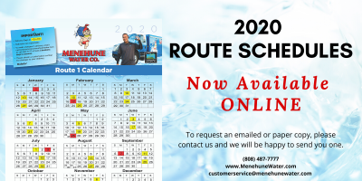 2020 ROUTE SCHEDULES- Available Now!, Ewa, Hawaii