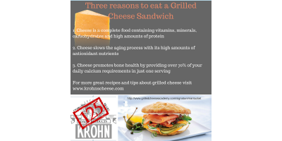 3 Reasons to Eat a Grilled Cheese Sandwich, Luxemburg, Wisconsin