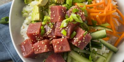 Try Large Bento Catering From Ahi & Vegetable, Honolulu, Hawaii