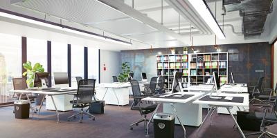 Pros & Cons of an Open Office Plan, Friendswood, Texas