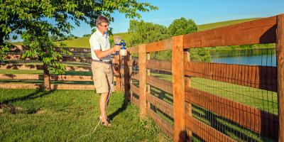 Fence Contractor Discusses Painting vs. Staining, Spencerport, New York