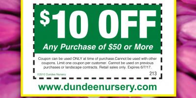 $10 off $50 or more on your plants, flowers and more!, Plymouth, Minnesota