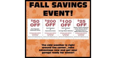 Fall Savings Event!, ,