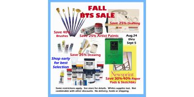 Fall BTS Sale Aug 24 - Sept 5, ,