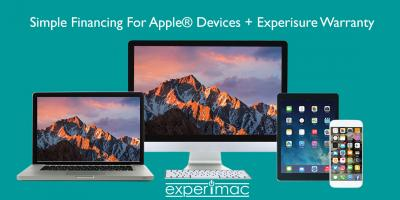 Simple Financing For Apple® Devices + Experisure Warranty at Experimac King of Prussia, King of Prussia, Pennsylvania