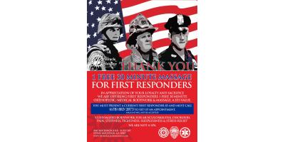 Free Pain & Stress Relief Massage Therapy for First Responders, Stone Mountain, Georgia