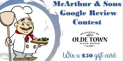 McArthur & Sons, Inc. Google Review Contest, Lorain, Ohio