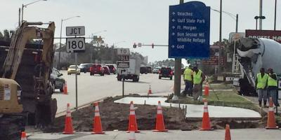 Gulf Shores is doing construction to prepare for the Spring, Gulf Shores, Alabama