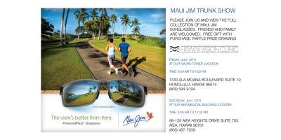 Maui Jim Trunk Show , Honolulu, Hawaii