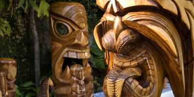 The Meaning Behind Tiki Statues, a Popular Hawaiian Themed Gift, Honolulu, Hawaii