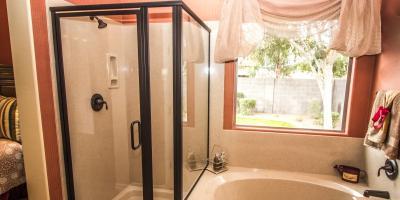 Hinged vs Sliding Shower Doors, Honolulu, Hawaii