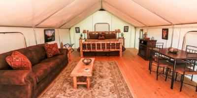 Should You Vacation in a Cabin or Tent?, Whitefish, Montana