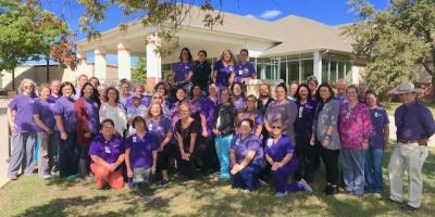 Go Purple for Domestic Violence Awareness Month, Gatesville, Texas