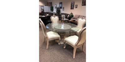 Glass Dining Table and 4 Chairs, ,