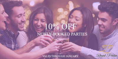 Book a Royal Palm Party & Get 10% Off!, Oyster Bay, New York