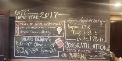 January Celebrations at LeVeck Lighting Products!, Tipp City, Ohio