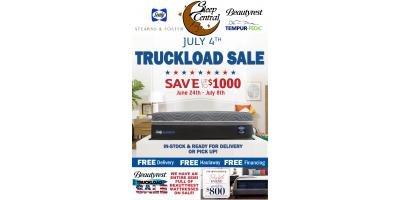 It's BACK!  4th of July Truckload Mattress Sale Going on Now, Minocqua, Wisconsin