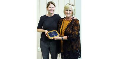 CMHS's Kathy Lee is Presented with the CARE Award , Gatesville, Texas