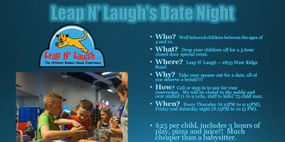 Leap N' Laugh Date Night, Greece, New York