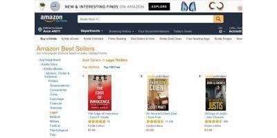 "David Miraldi's Book ""The Edge of Innocence"" Currently Best Selling Legal Thriller E-book, Lorain, Ohio"