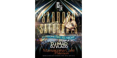 SABROSO SATURDAYS- MARCH 14- MAMAJUANA CAFE PATERSON , Paterson, New Jersey