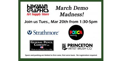 March Demo Madness 3/20, 1:30-5!, Honolulu, Hawaii