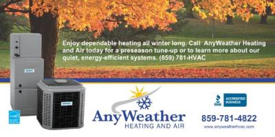 Fall Special: AnyWeather Heating and Air, Newport-Fort Thomas, Kentucky