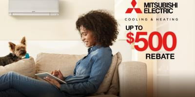 Get Up To $500 Back on a Mitsubishi System Installation, Fall River, Massachusetts