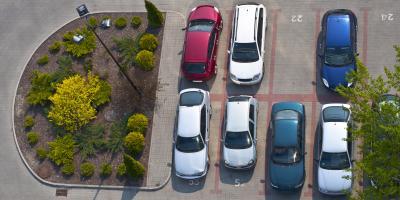 Comparing Asphalt & Concrete Parking Lots, Rhinelander, Wisconsin