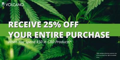 Spend $50 in CBD Products & Receive 25% OFF Your Purchase, Honolulu, Hawaii