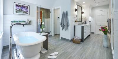 Front Row Kitchens Inc. Wins the HOBI Award for Luxury Master Bathroom Design, Norwalk, Connecticut